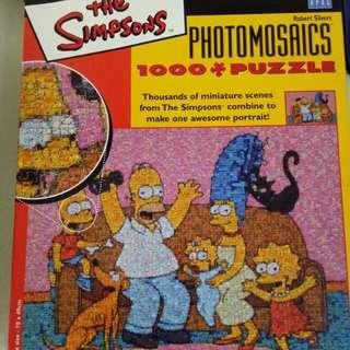 The Simpson's photomosaics jigsaw puzzle