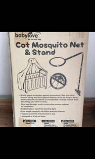 Baby cot net & stand