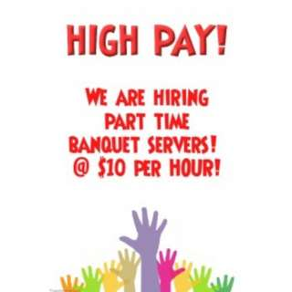Banquet Servers Wanted @ Marine Parade | $10 per hour | Can work with friends!