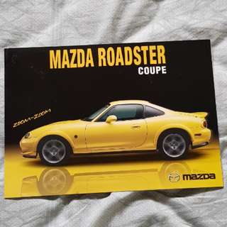 mazda eunos roadster coupe jdm japan japanese zoom mazdaspeed brochure catalogue catalog specifications technical equipment options trim zoomzoom colours mx5 mx-5 miata nb