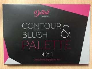 Contour and blush palette