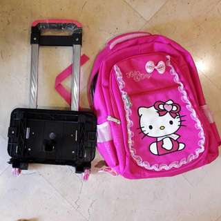 Girl Hello Kitty Bag with Trolley