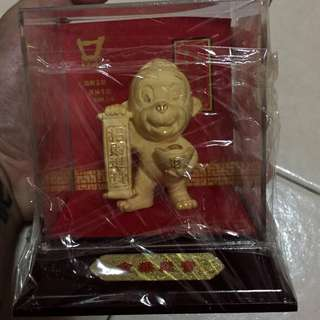 999 gold plated monkey