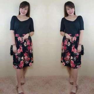 💁🏻Floral Terno Set (Skirt+Tops)🔥