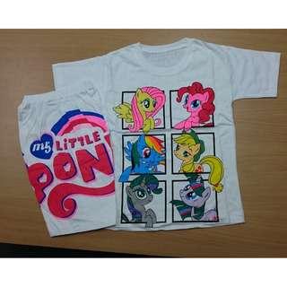 (NEW)  Little Pony SIze M - Baju Setelan anak