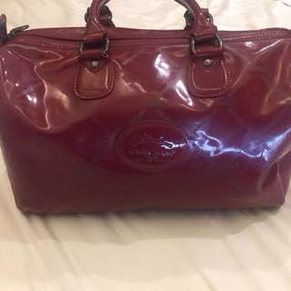 LONGCHAMP maroon doctors bag