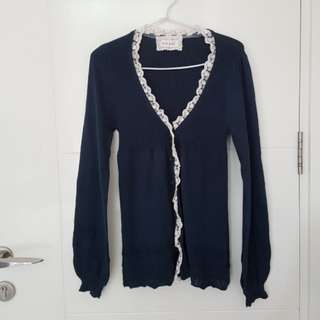 cardigan knit & co biru tua