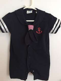 Peninsula Baby Sailor Romper