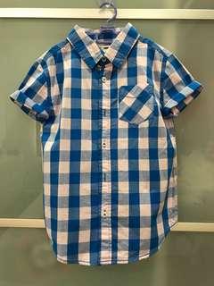 Cotton On 7T checkered shirt
