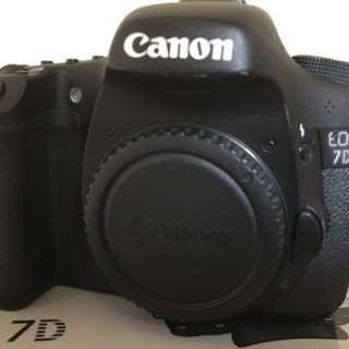 Canon 7d 機身 彩虹 盒裝配件
