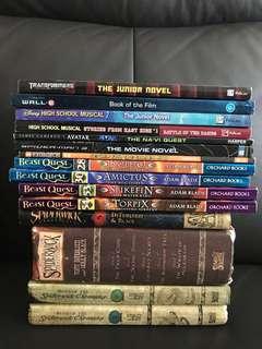 15 Story Books Bundle (Spiderwick series|High Sch Musical|Spider-Man 3|Avatar|Beast Quest|Wall E|Transformers) TO BLESS