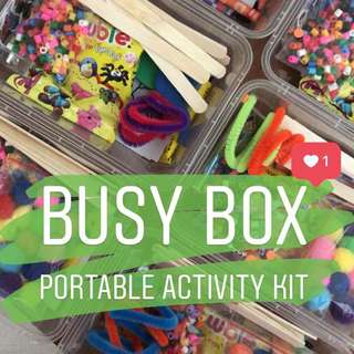 Busy box - portable activity kit