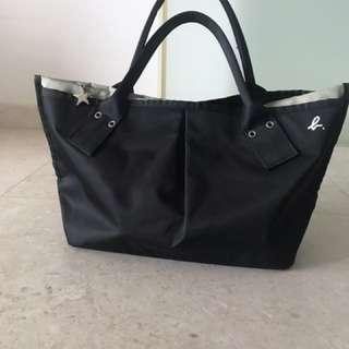 Agnes b small tote bag (black)
