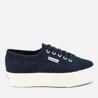 Superga Navy Flatform