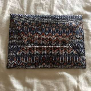 MANGO Tribal design envelope bag