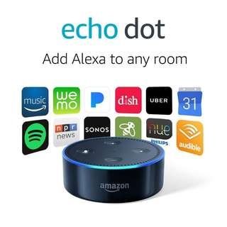No Nego - amazon echo dot 2nd generation black / smart home voice controller / audio speaker plus ALEXA personal virtual assistant like google