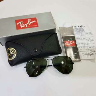 Bnew Store Bought Original Rayban Black Aviators
