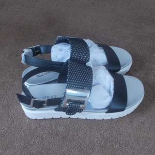 Call it Spring - black / silver sandals