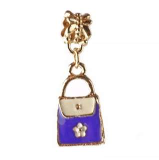 Handbag Purse Purple Charm