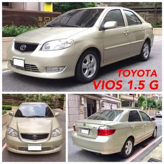 僅跑10萬公里04年VIOS 1.5G一手車裡外如新 可分期輕鬆擁有