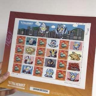 Ultraman / 鹹蛋超人 / 奧特曼香港限定版郵票