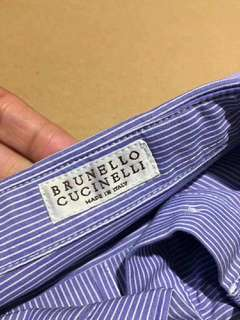 authentic brand new brunello cucinelli  cotton shirt