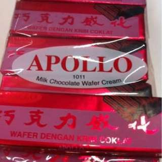 APOLLO WAFER CREAM CHOCOLATE/VANILLA