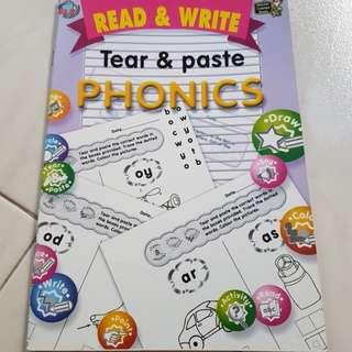 ⛤BN Read & Write, Tear & Paste Phonics