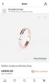 Jonghyun Birthday Ring