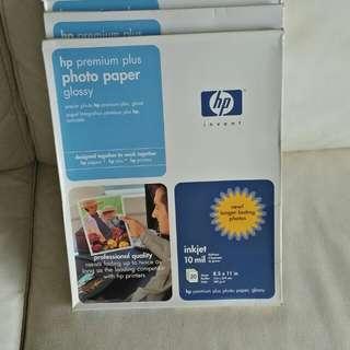 Hp premium plus glossy paper