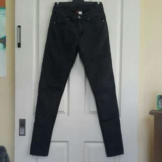 H&M Black Denim Skinny Jeans