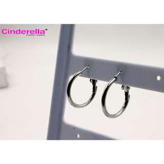 ANTING KOREA GIPSY RING AKSESORIS FASHION WANITA MURAH WANITA HOOP SILVER GAYA SIMPLE ELEGAN