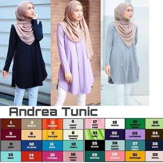 🎋 Andrea Tunic 🎋  Material : Wolfice Size: up to 7XL Price: $25