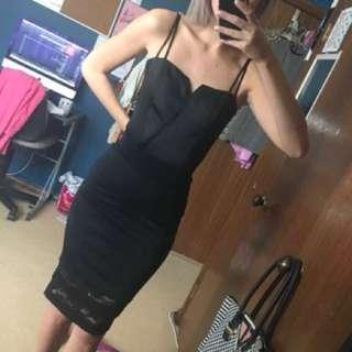 Bardot Satin Bustier Bodysuit
