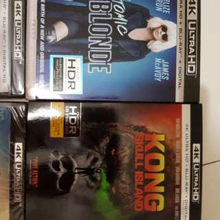 WTS Brand New Sealed 4K UHD US imported Blu Rays
