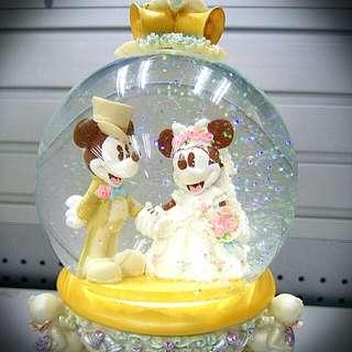 絕版 Mickey & Mini 結婚音樂盒