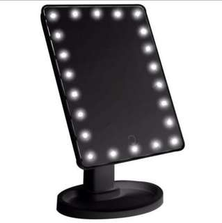 LED MIRROR MAKE UP READY BLACK AND WHITE