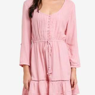 Zalora Baby Pink Garden Dress