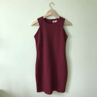 Maroon Body Con Dress