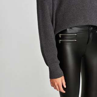 Zara Coated trousers