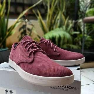 Sepatu Skechers Mark Nason Belmont Merah Maroon Original Bnib