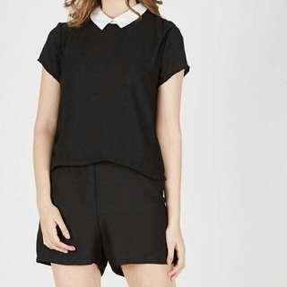 Monochrome shirt jumpsuit by Kulo