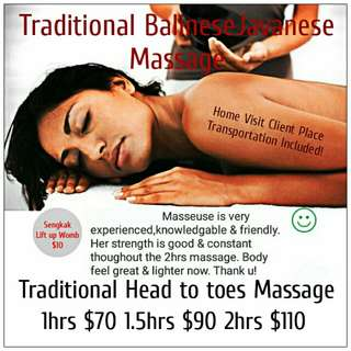 Massage (1hrs,90mins,120mins)