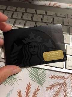 Starbucks Card black siren card 2017 US version