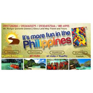 PALAWAN Puerto Princesa, Coron or El Nido All-in Tour Packages with AIRFARE