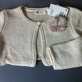BNWT H@M Gold Knitted Sweater