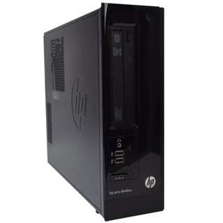 HP Pro 3300 SFF Desktop PC (Intel i3 2100, 4GB RAM, 500GB HDD, Win 10 Pro 64bit)