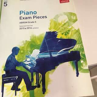 ABRSM Grade 5 2016&2018 piano exam pieces without cd