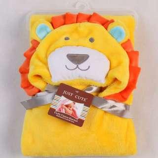 Just Cute Flyffy Fleece Blanket Yellow Lion