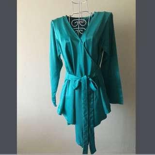 Satin Kimono Wrap
